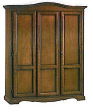 Armadio 3 ante in arte povera legno massello classico massello, camera da letto