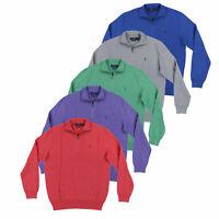 Polo Ralph Lauren Mens Half Zip Sweater Pima Cotton Mesh Knit Pullover M L Xl