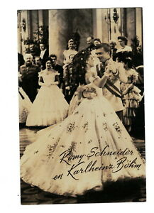 MC3060 FAMOUS ACTRESS ROMY SCHNEIDER DANCING AS SISI IN THE MOVIE  RPPC