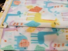 Angel of Mine Fleece Baby Blanket with Giraffes Pattern Lot of Two