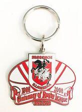 33470 ST GEORGE DRAGONS NRL CENTENARY 1908-2008 METAL KEY RING KEYRING CHAIN