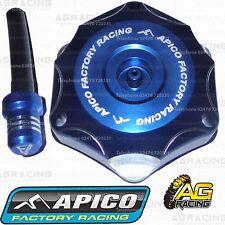 Apico Blue Alloy Fuel Cap Breather Pipe For Yamaha YZF 250 2008 Motocross Enduro