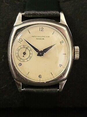 Vintage Authentic Patek Philippe 14k White Gold Men's Wristwatch ~ Runs