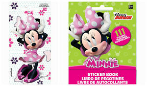 MINNIE MOUSE Stickers Sticker Book Party Loot Bag Fillers Birthday Favours
