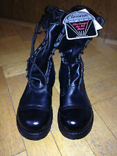Corcoran Para Boots Springer Bottes Cuir Noir Made In USA 11.5 EE EUR 45/46