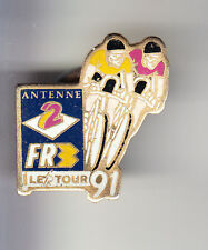 RARE PINS PIN'S .. VELO CYCLISME CYCLING TOUR DE FRANCE TV RADIO A2 FR3 1991 ~W1