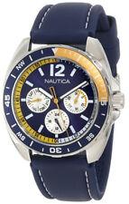 Nautica Men's N09915G Sport Ring Multifunction Blue and Yellow Box Set Watch