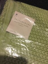 "Pottery Barn Knit Bolster Light Green 8 X 30"" New Knitted Soft Pillow Cover"
