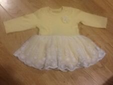 Size 0-3 Months Yellow & White Dress With Tutu Detail