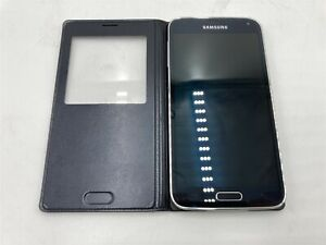 Samsung Galaxy S5 SM-G900V 16GB Verizon Smartphone CRACKED SCREEN GLASS *READ*