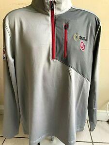 Oklahoma Sooners 2019 Peach Bowl Men's Cutter & Buck Dry Tec Jacket New w tags