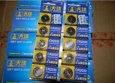 5PC CR2032 Knopfzellen Batterien Knopfzelle Batterie Uhrenbatterien