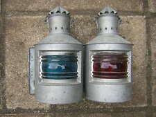 lot 2 lampes de peniche bateaux marin babord tribord hollande rouge bleue rare