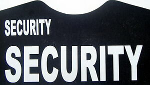 3 large + 3 small security iron on transfers wholesale 6 pack for T-SHIRTS etc.