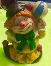 Vintage Cast Iron Clown Bank