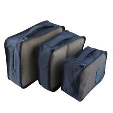 6pcs Waterproof Clothes Storage Bag Packing Cube Travel Luggage Organizer kit