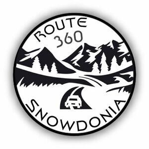 2x Snowdonia 360 Wales Road Trip Driving Car Vinyl Sticker Decal #2001