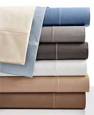 Hotel Collection 525 TC Cotton QUEEN Flat Sheet & Pillowcases Set White i467