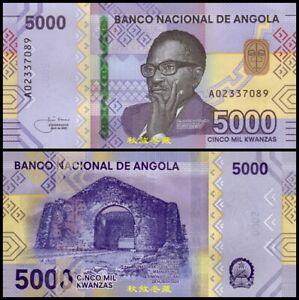Angola 5000 Kwanza (2020/2021), A Prefix, Paper, UNC