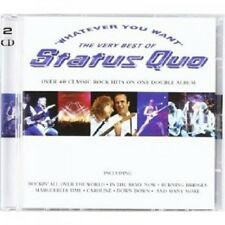 STATUS QUO - WHATEVER YOU WANT-THE VERY BEST OF;2 CD 41 TRACKS CLASSIC ROCK NEUF