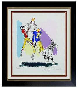 LeRoy NEIMAN HAND COLORED Etching Original Authentic The Aerialist Signed Art