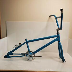 "Rare Vintage 1987 Torker Rush Street BMX Frame Set Blue 20"" Akisu SR Dia Compe"