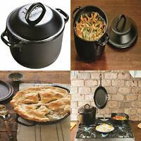 Lodge 2 Quart Cast Iron Dutch Oven. Pre-seasoned Pot with Lid for 2 Qt