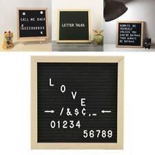 Convenient Felt Letter Black Memo Board 10x10cm Oak Frame White Characters