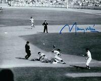 Maury Wills Signed Autographed 8X10 Photo LA Dodgers Record Setting Slide w/COA
