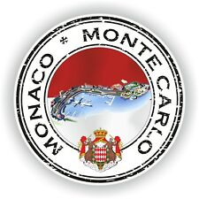 Monaco Monte Carlo Stamp Seal Sticker Decal for Laptop Tablet Fridge Door #01