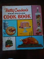 Betty Crockers New Picture Cookbook Cooking Kitchen Book Vintage Used & abused
