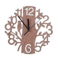 Modern Wooden Tree Wall Clock 3D DIY Watches Living Room Home Office Decor  Gift Part 60