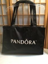 Pandora Large Tote Bag Overnight Shopper Pink Black Heart