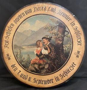 """Vintage German Wood Folk Art Shooting  Hunt Target 19 """""""