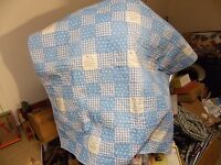Vintage hand stitched and hand quilted baby quilt