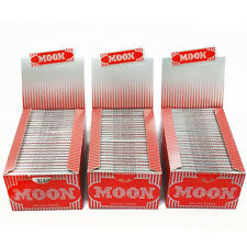 "3 boxes Moon Red Cigarette 1.25"" inch Rolling Papers 77*45mm 6000 leaves 1 1/4"