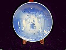 """Copenhagen B&G Collector Plate Jule after 1979 7 1/4"""" White Chrismas Denmark"""