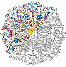 "Embroidery Kit ~ Design Works Zenbroidery ""Kitchen Mandala"" #DW4050"