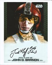 Hand Signed 8x10 photo JACK KLAFF as JOHN D BRANON - RED 4 - STAR WARS + my COA