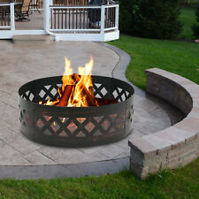"Zeny 37 inch Diameter Steel Fire Pit Campfire Ring Heavy Duty In-Ground 12"" Dept"