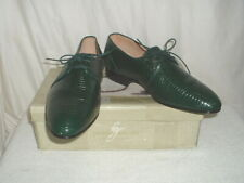 Men's Giorgio Brutini Green Lizard Dress Shoes 11.5M NEW