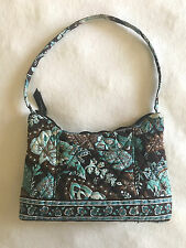 Vera Bradley Java Blue Molly Purse Bag Handbag Brown Paisley Floral Satchel Tote