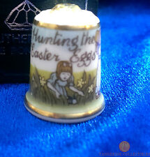 Hunting The Easter Eggs Boxed Thimble With Crystal - Sutherland China