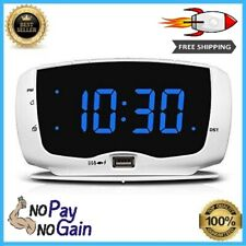 Electronic Alarm Clock Radio For Bedroom FM Radio & Large LED Number Display NEW