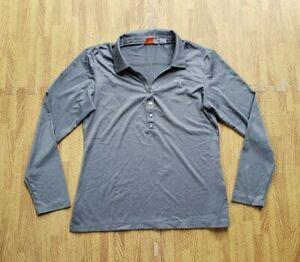 Puma DryCell Golf Long Sleeve Polo Shirt ~ Women's Medium M ~ Gray Silver