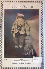 "Hawley House Designs 20"" Trunk Santa Vintage Doll Pattern"