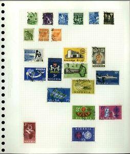 Nigeria Album Page Of Stamps #V18286