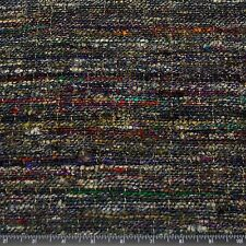 "Heavy weight Tweed Silk Blue Warp 100% Raw Silk Fabric, 45"" W, By Yard (WT-272)"