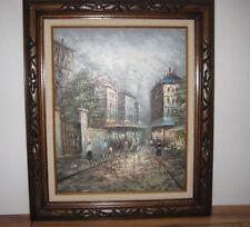 """Margaret Hyatt Kressley 1928 Listed Artist Oil on Canvas French Cityscape 22""""x26"""