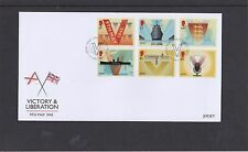 Jersey 2015 Victory & liberation ship map radio microphone First Day Cover FDC